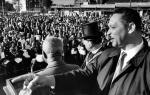 Leon Sullivan and the Reverend Thomas Logan, Masonic Grand Master at Opening day at Progress Plaza, Broad street, Philadelphia.