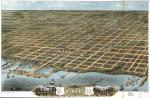 Bird's eye view of the city of Erie, Erie County, Pennsylvania 1870.