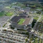 Aerial view of Beaver Stadium facing south, by Greg Grieco, 2001.
