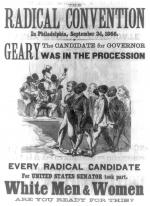 The artist purports to show the convention of Radical Republicans held in Philadelphia