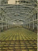 Pennsylvania Railroad Freight Office, Philadelphia, Pa. interior as used by Moody and Shankey in 1875, before it altered to the Wanamaker store. Rows and rows of seats fill the massive room