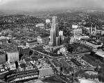 Aerial view of the University of Pittsburgh Campus, circa 1955.