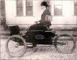 George Holley on his Motor Carriage, 1901