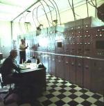 Transmitter room at Slidell radio station WNU Slidell, Louisiana.