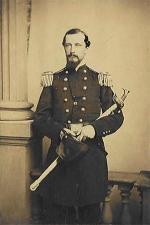 Brigadier General Isaac Jones Wistar, standing, in full military dress.