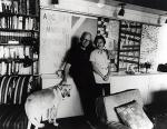 James A. Michener with his wife Mari in their home in Pipersville, Bucks County, 1974.