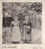 Two of elderly Harmonist women in German dress