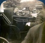 Cardinal Gibbons enters President Theodore Roosevelt's carriage, Wilkes-Barre, PA, 1905.