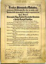 signed lithograph with the calligraphic text of the Pittsburgh Agreement.