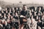 Dr. Ralph J. Bunche addressing the public, Aaronsburg