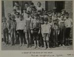 Boys outside Friends Neighborhood Guild, 1905-06