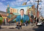 Frank Rizzo mural - market stalls