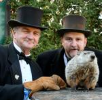 John Griffiths - Co-Handler  and Ben Hughes - Co-Handler with Punxsutawney Phil, 2010
