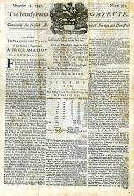 Photograph of front page