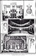Interior and exterior views of Gibson's New Standard Theater in Philadelphia, PA, circa 1919.