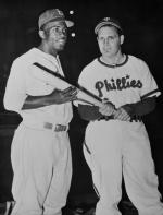 Jackie Robinson with Ben Chapman