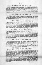 Page two of the original seventeen amendments passed in 1789 and later changed to the ten amendments in the Bill of Rights.