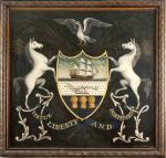 Painting of the Pennsylvania Coat of Arms by John Fisher in 1796.
