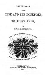 "Frontpiece of Langstroth on the Hive and the Honey-Bee: A Bee Keeper's Manual, Northampton, MA: Hopkins, Bridgman & Co., 1853. Shows illustration of queen bee surrounded by worker bees wrapped by text ""Every Good Mother Should be the Honored Queen of a Happy Family."""