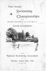 "Program Cover for the ""Third Annual Swimming Championships of the Atlantic Association of the U.S.,"" held at the Wayne Natatorium, Wayne, PA, August 24, 1895."