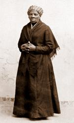 Full length photograph of Harriet Tubman from around 1885.