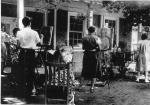 Black and white Image of Artists at the Pennsylvania Academy of Fine Arts, summer school Chester Springs