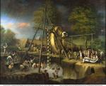 Oil on canvas of the Exhumation of a Mastodon, by Charles Willson Peale.