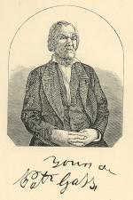 Etching portrait of Patrick Gass