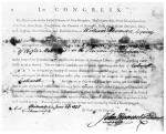 Appointment certificate of Thompson