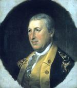 Oil on canvas of a formal portrait of Horatio Gates in uniform