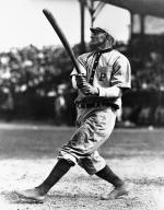 Pittsburgh Pirates Shortstop Honus Wagner in action at bat.
