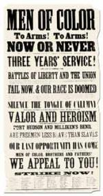 Civil War poster recruiting African American men to the Union forces.'