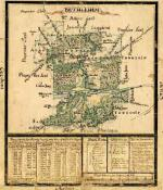 A 1758 map of the Moravian settlement of Bethlehem.