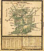 A 1758 map of the Moravian settlement of Bethlehem.