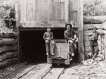Anthracite mine workers often included young boys such as those depicted here at the entrance to a drift mine in the anthracite region. The anthracite industry peaked in 1917 when one hundred million tons of coal were mined and processed by over 160,000 workers.'