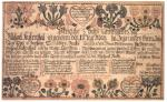 A wordy document with illustrations of hearts, flowers, and birds along the top and bottom borders.'