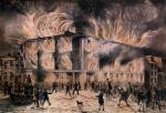 A mob burned Pennsylvania Hall to the ground after a meeting of female abolitionists in 1838.