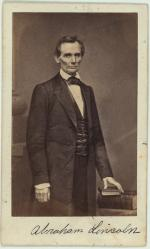 Photographer Matthew Brady captured this image of Abraham Lincoln in 1860.