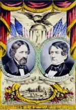 The 1856 political banner for the first nominees of the Republican party, John C. Fremont for President and William Dayton for Vice President.