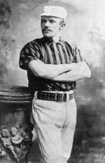 John Montgomery Ward poses for a studio portrait in uniform.
