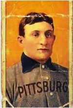 Honus Wagner baseball card.