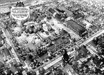 1938 aerial drawing of Old Economy Village
