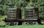 Oil tank cars on the railroad