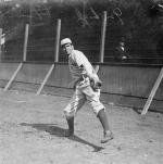 Chief Bender warming up in 1909.