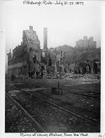 Union Street Station Ruins from the West.