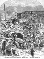 This sketch of the rescue efforts at the Avondale Colliery appeared in Harpers Weekly in 1869. Over one hundred men and boys died in the Avondale Mine Disaster.