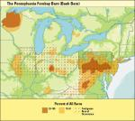 Map of barns in Pennsylvania.