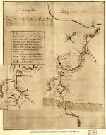 George Washington's 1754 map of his journey to Fort LeBoeuf includes Christopher Gist's plantation, between the Monongahela and Youghiogheny Rivers.