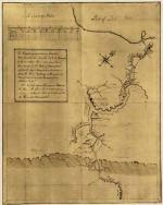 George Washington drew this map of his route upon his return from a trip to Fort LeBoeuf. He followed the Venango Path from the forks of the Ohio River, east to the village of Venango, then north to the forts of Leboeuf and Machault, depicted at the northern terminus of his route.
