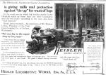 Print ad for Heisler Locomotives